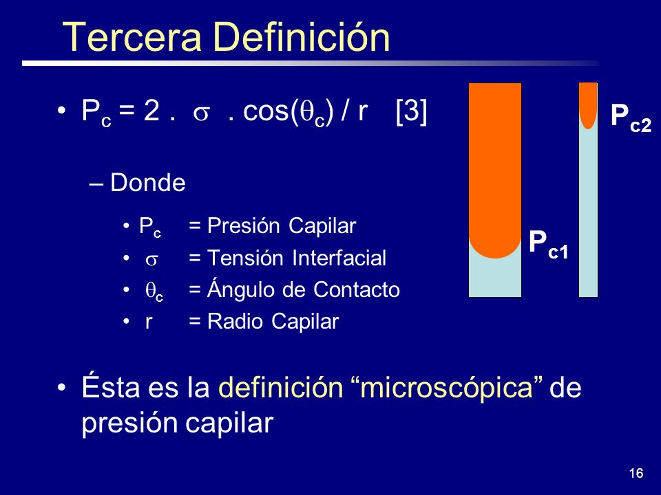Tercera Definición Pc = 2 . s . cos(qc) / r [3] Pc2